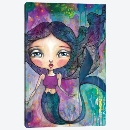 Rainbow Mermaid Canvas Print #LPR165} by Tamara Laporte Canvas Wall Art