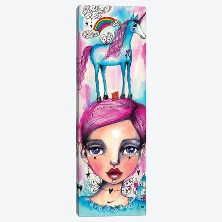 Rainbow Unicorn Girl Canvas Print #LPR167} by Tamara Laporte Canvas Wall Art