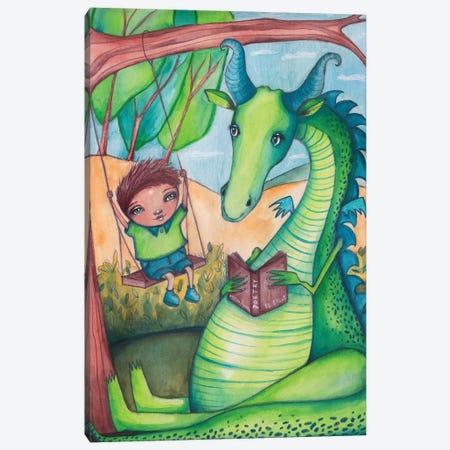 Reluctant Dragon Canvas Print #LPR168} by Tamara Laporte Canvas Art Print