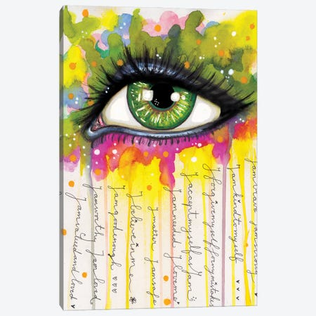 Sacred Eye Canvas Print #LPR170} by Tamara Laporte Canvas Wall Art