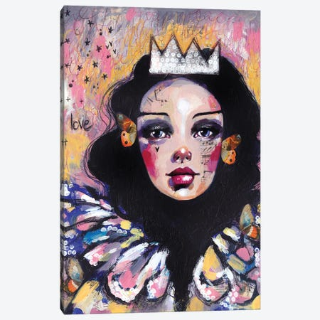 Sad Queen Canvas Print #LPR172} by Tamara Laporte Canvas Art