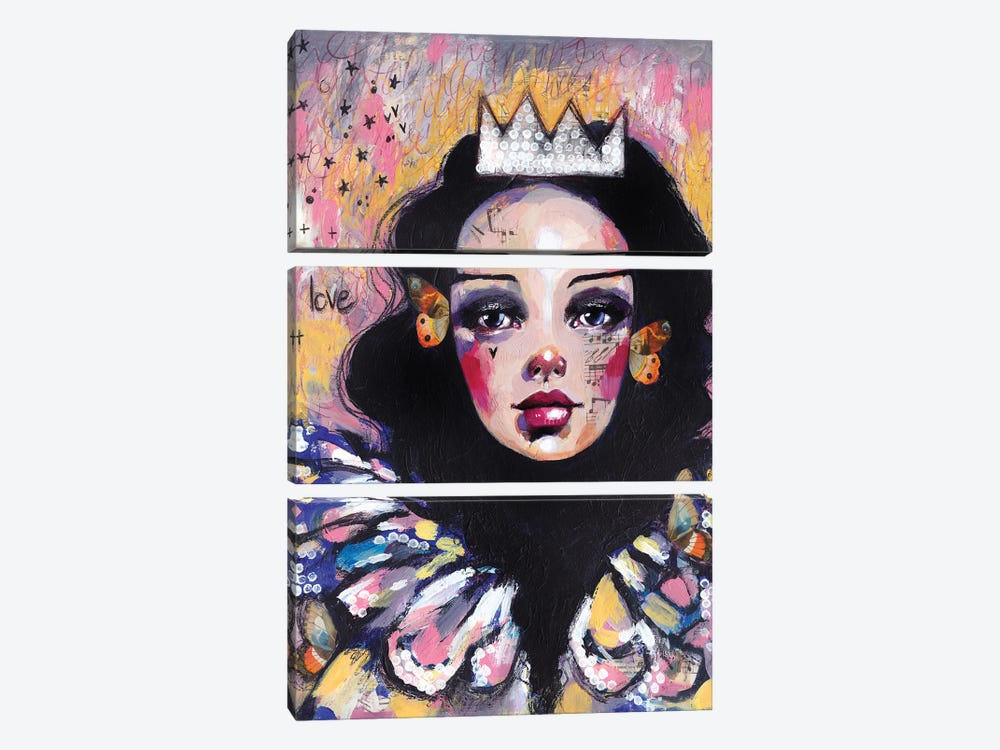 Sad Queen by Tamara Laporte 3-piece Canvas Art