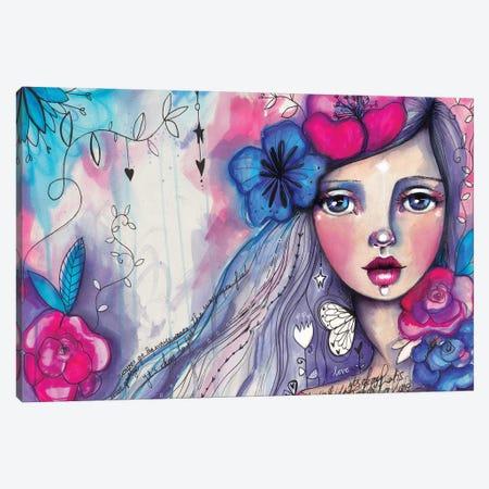 She Blooms I Canvas Print #LPR173} by Tamara Laporte Canvas Wall Art