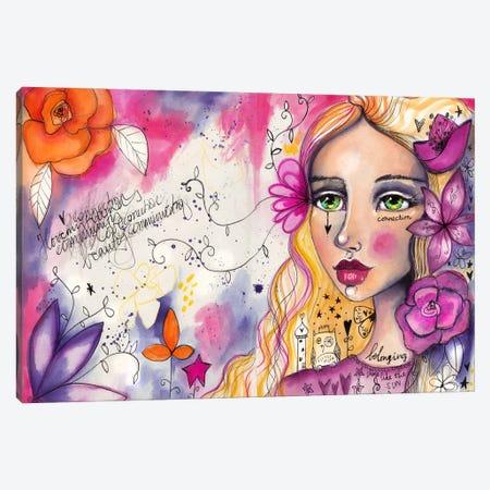 She Blooms II Canvas Print #LPR174} by Tamara Laporte Art Print