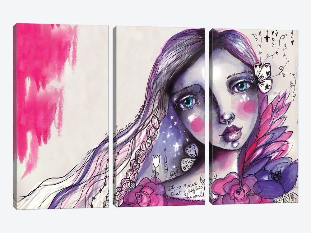 She Blooms IV by Tamara Laporte 3-piece Canvas Artwork