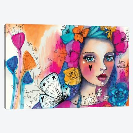 She Blooms V Canvas Print #LPR177} by Tamara Laporte Canvas Print