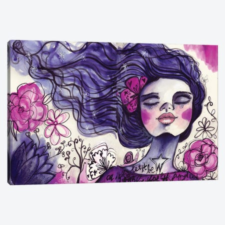 She Blooms VII Canvas Print #LPR179} by Tamara Laporte Canvas Artwork