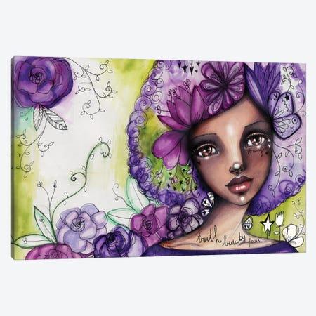 She Blooms -Focus Canvas Print #LPR181} by Tamara Laporte Art Print