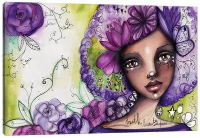 She Blooms -Focus Canvas Art Print