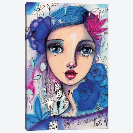She Blooms -Rose Canvas Print #LPR182} by Tamara Laporte Canvas Art Print