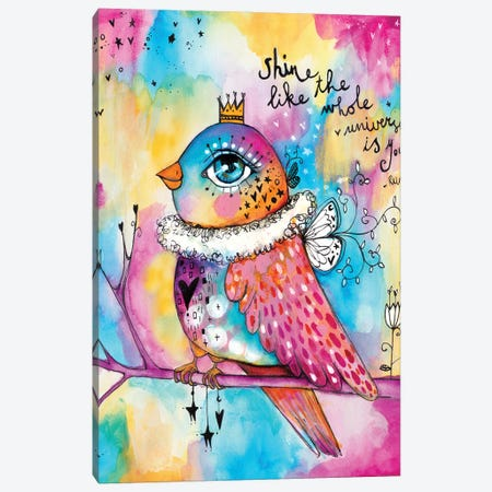 Shine Like The Universe Canvas Print #LPR183} by Tamara Laporte Canvas Art Print