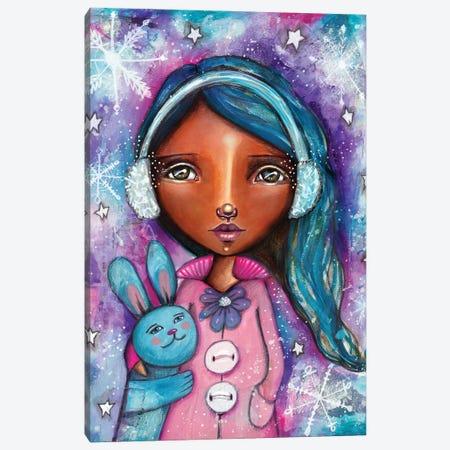Snow Princess With Bunny Canvas Print #LPR185} by Tamara Laporte Canvas Art