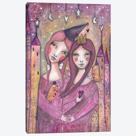 Soul Sisters Canvas Print #LPR189} by Tamara Laporte Art Print