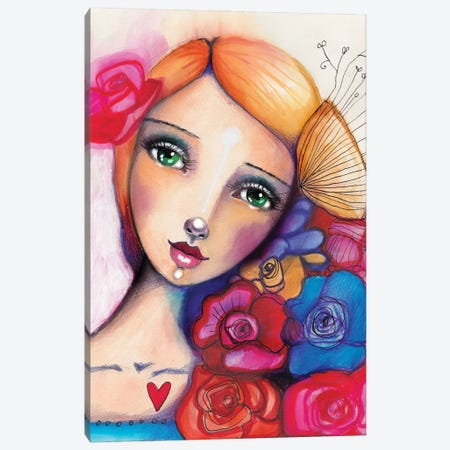 Spanish Beauty Canvas Print #LPR190} by Tamara Laporte Canvas Art