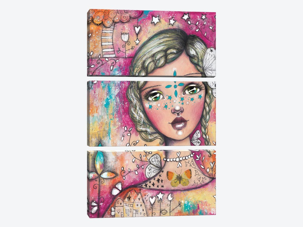 Star Girl II by Tamara Laporte 3-piece Canvas Wall Art