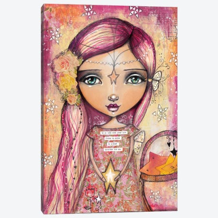 Star Girl Canvas Print #LPR195} by Tamara Laporte Art Print