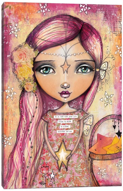 Star Girl Canvas Art Print