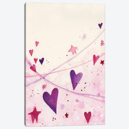 Stars Hearts Canvas Print #LPR197} by Tamara Laporte Art Print