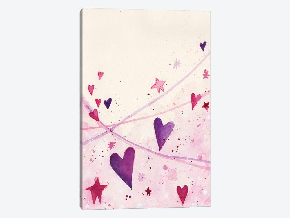 Stars Hearts by Tamara Laporte 1-piece Canvas Print