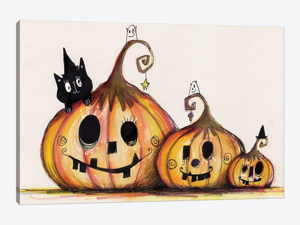 3 Pumpkins by Tamara Laporte 1-piece Canvas Artwork