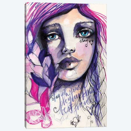 Stay Canvas Print #LPR202} by Tamara Laporte Canvas Artwork