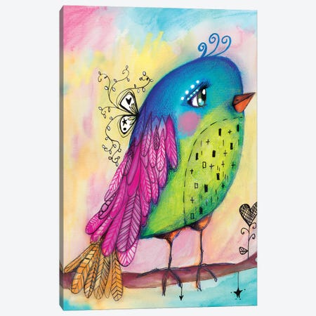Sweet Bird Canvas Print #LPR208} by Tamara Laporte Canvas Artwork