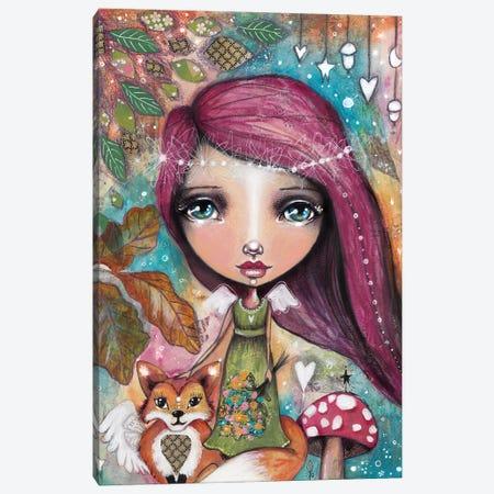 Autumn Fairy With Fox Canvas Print #LPR20} by Tamara Laporte Canvas Print