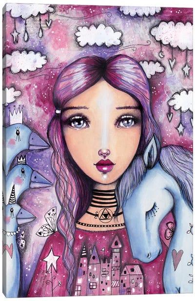 The Goose Girl Canvas Art Print