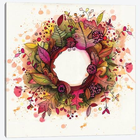 Autumn Wreath Canvas Print #LPR21} by Tamara Laporte Canvas Art Print