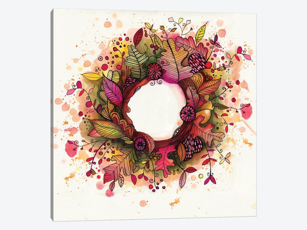 Autumn Wreath by Tamara Laporte 1-piece Art Print