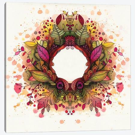 Autumn Wreath Canvas Print #LPR22} by Tamara Laporte Canvas Art Print