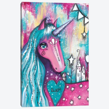 Unicorn Love Canvas Print #LPR233} by Tamara Laporte Canvas Print