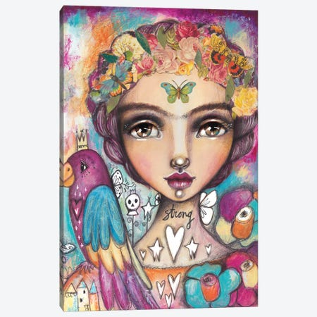 Wild Free Canvas Print #LPR237} by Tamara Laporte Canvas Wall Art