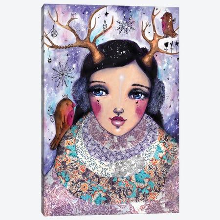 Winter Girl Canvas Print #LPR239} by Tamara Laporte Canvas Art Print