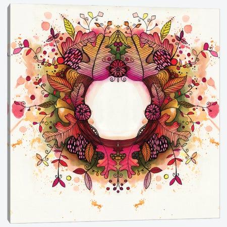 Autumn Wreath Canvas Print #LPR23} by Tamara Laporte Canvas Print