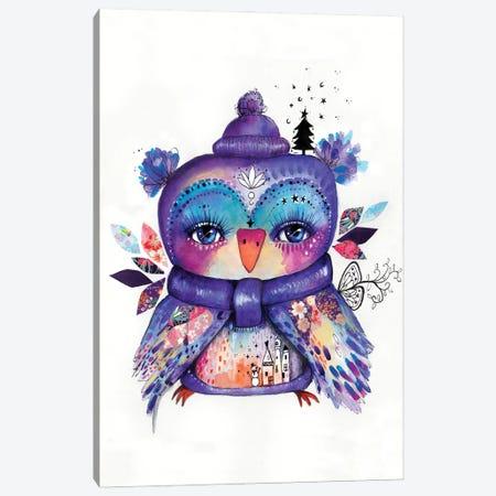 Wonderland Quirky Bird Canvas Print #LPR241} by Tamara Laporte Canvas Artwork