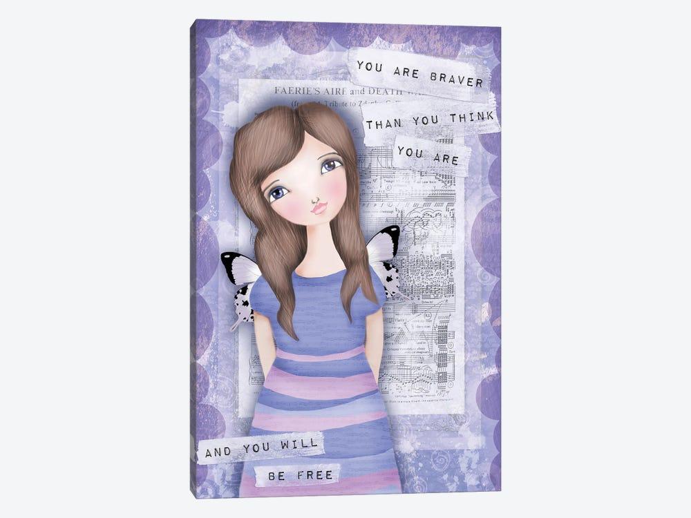 You Are Braver Than You Think by Tamara Laporte 1-piece Canvas Artwork