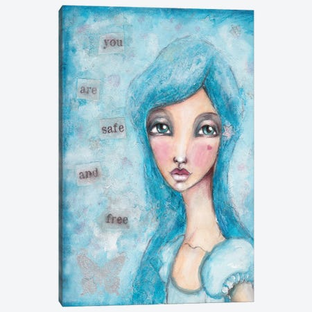 You Are Safe Canvas Print #LPR246} by Tamara Laporte Art Print