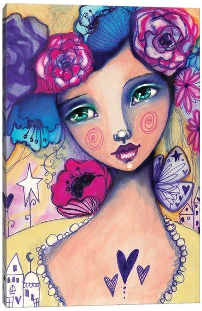 Zooey Deschanel Canvas Art Print