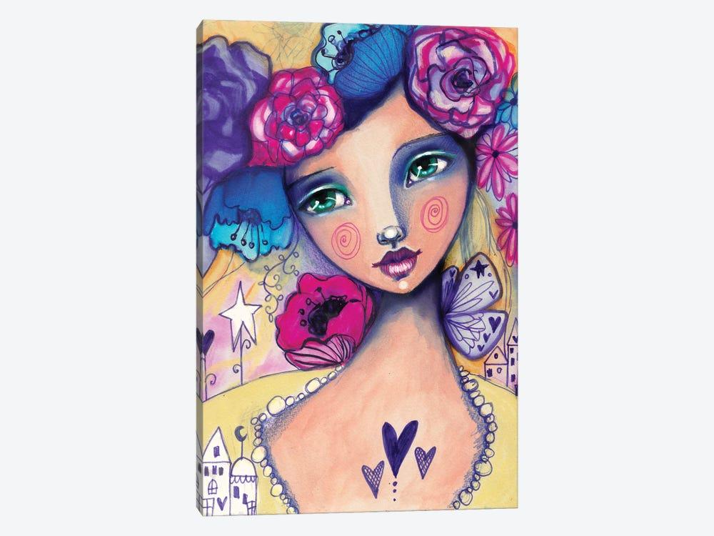 Zooey Deschanel by Tamara Laporte 1-piece Canvas Print