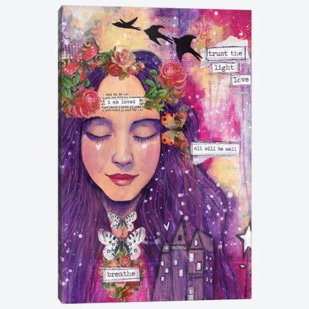 Trust The Light Canvas Print #LPR256} by Tamara Laporte Canvas Art