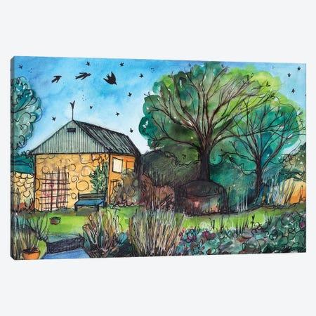 Barn Swallows Canvas Print #LPR27} by Tamara Laporte Canvas Artwork