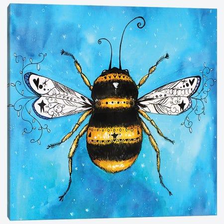 Beautiful Bumblebee Canvas Print #LPR29} by Tamara Laporte Art Print