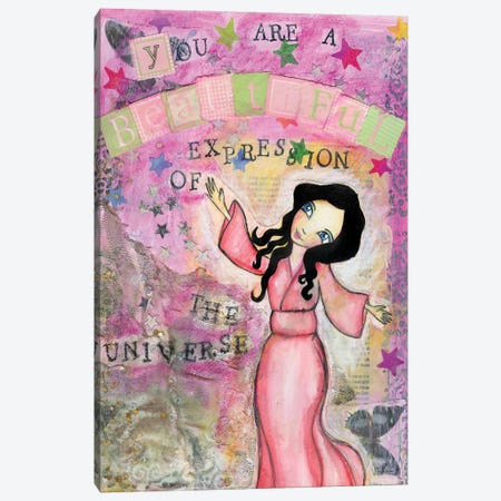 Beautiful Expression Canvas Print #LPR30} by Tamara Laporte Canvas Wall Art