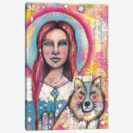 Bright Eyes Canvas Print #LPR38} by Tamara Laporte Canvas Art