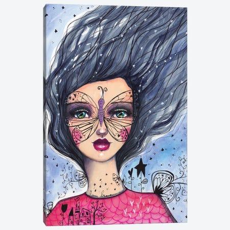 Butterfly Girl Canvas Print #LPR39} by Tamara Laporte Canvas Artwork