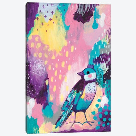 Abstract Bird II Canvas Print #LPR3} by Tamara Laporte Canvas Wall Art