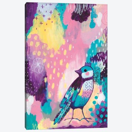 Abstract Bird II Canvas Print #LPR3} by Tamara Laporte Canvas Wall Art