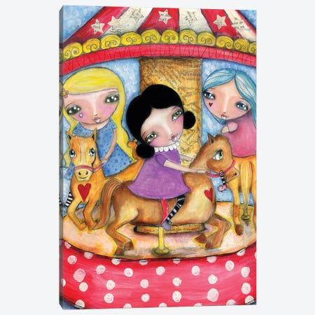 Carousel Canvas Print #LPR41} by Tamara Laporte Art Print