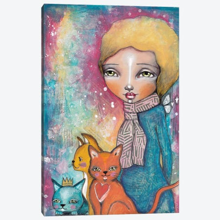 Cat Girl Canvas Print #LPR42} by Tamara Laporte Canvas Art Print